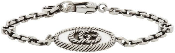 Gucci Silver GG Marmont Chain Bracelet