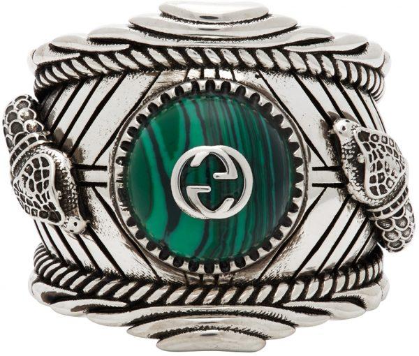 Gucci Silver Garden Snake Ring