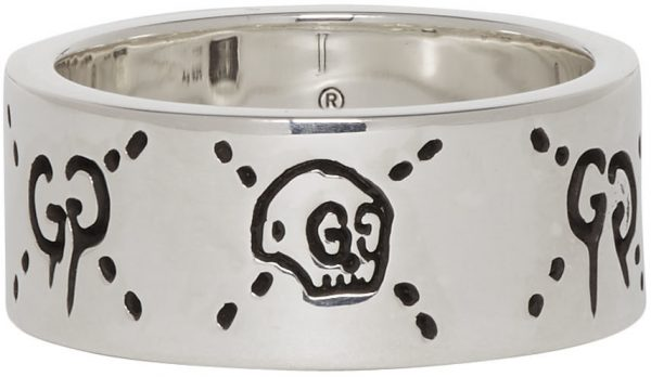 Gucci Silver 'GucciGhost' Ring