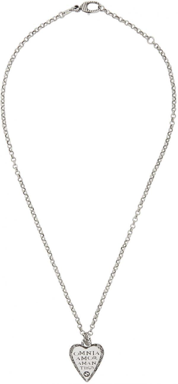 Gucci Silver Heart Necklace