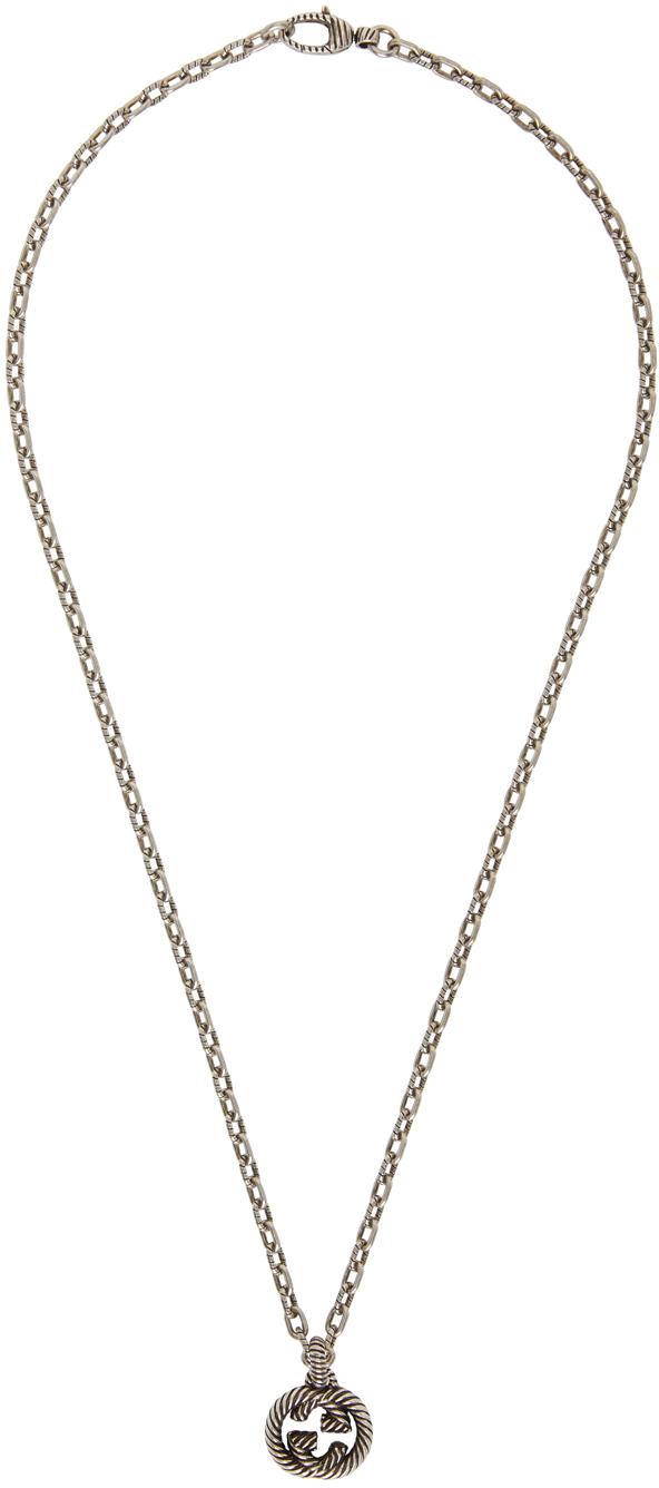 Gucci Silver Interlocking G Chain Necklace