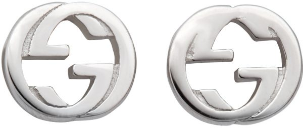 Gucci Silver Interlocking G Stud Earrings