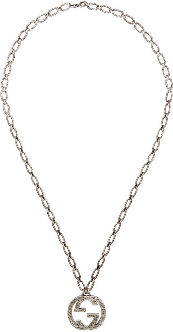 Gucci Silver Interlocking GG Necklace