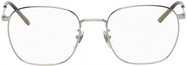 Gucci Silver Square Glasses