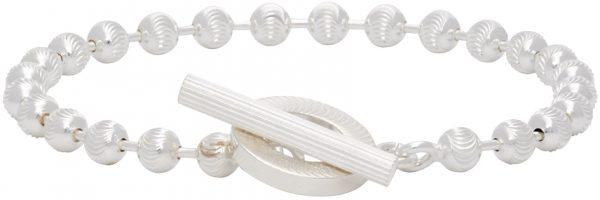 Gucci Silver Textured Chain Bracelet