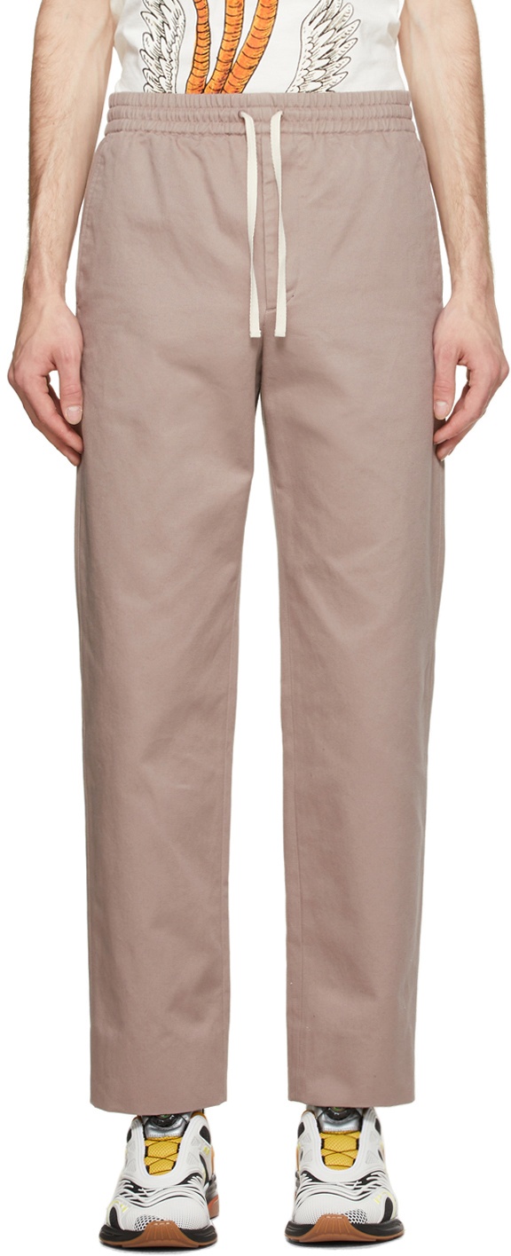 Gucci Taupe Cotton Vintage Logo Trousers