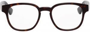 Gucci Tortoiseshell & Blue Square Glasses