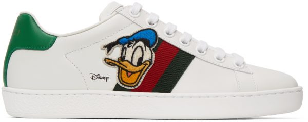 Gucci White Disney Edition Donald Duck Ace Sneakers