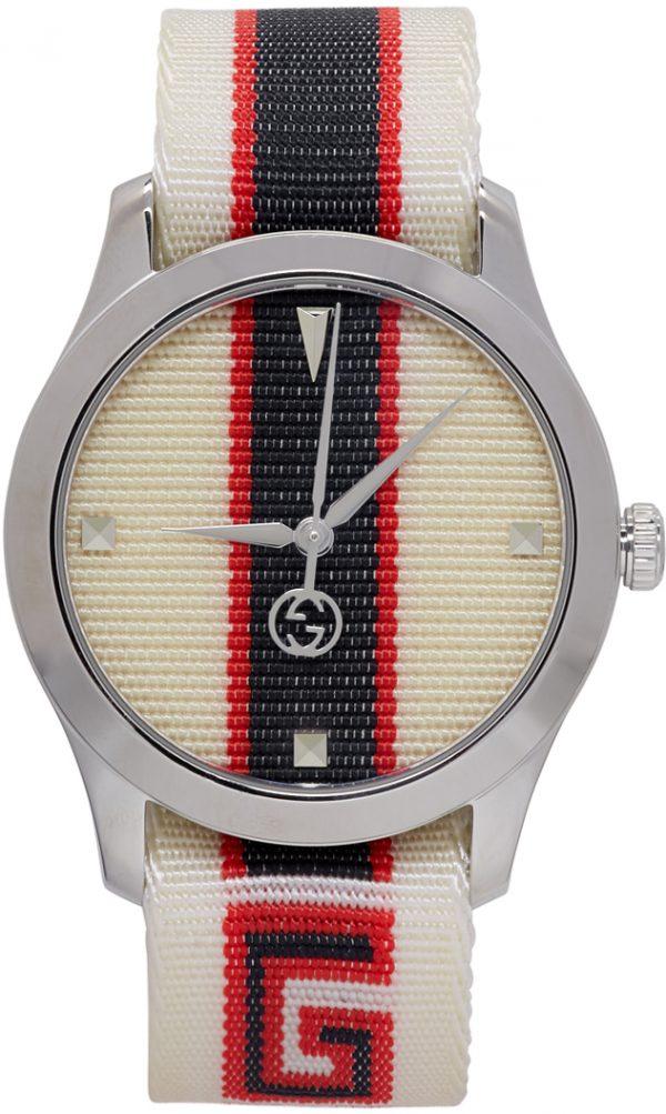 Gucci White G-Timeless Logo Watch