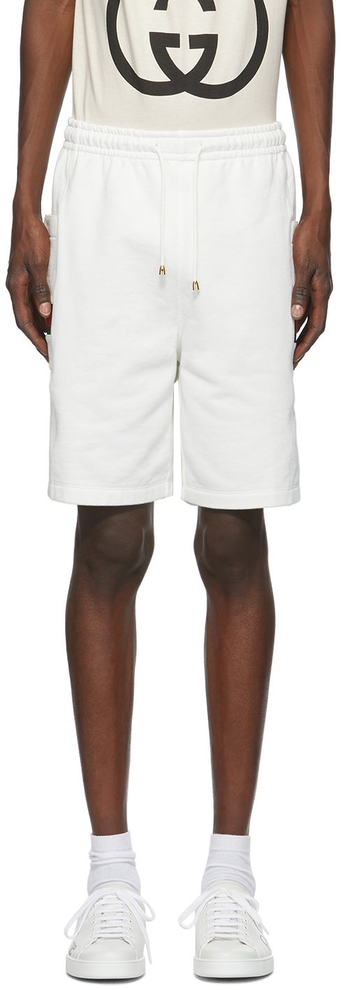 Gucci White Interlocking G Jersey Shorts
