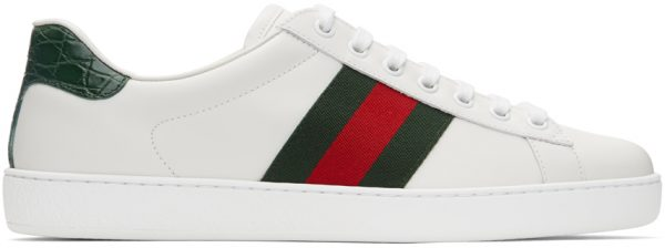Gucci White & Green Ace Sneakers