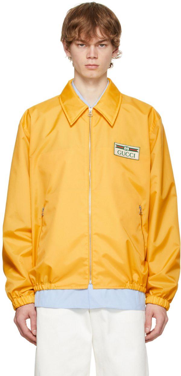 Gucci Yellow Canvas Lightweight Jacket