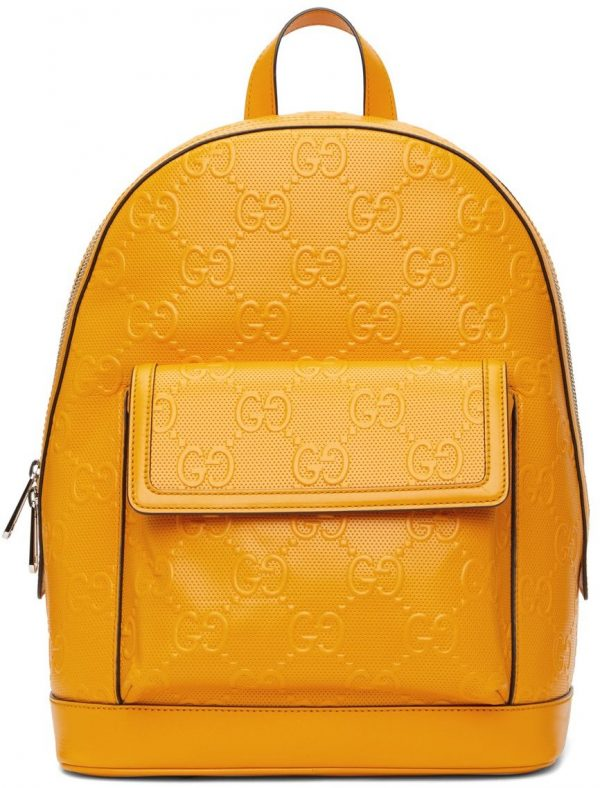 Gucci Yellow GG Embossed Backpack