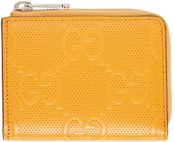 Gucci Yellow 'GG' Wallet