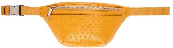 Gucci Yellow 'Gucci Signature' Tennis Belt Bag