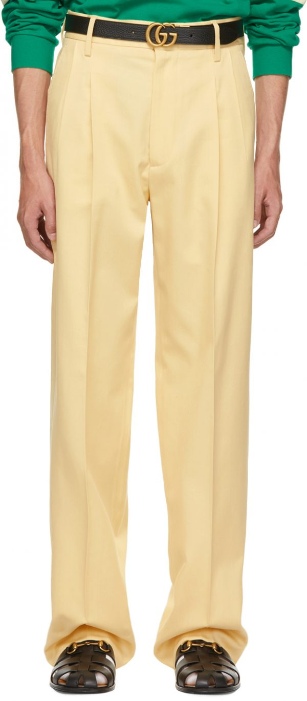 Gucci Yellow Twill Trousers