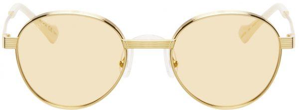 Gucci Yellow & Gold GG0872S Sunglasses