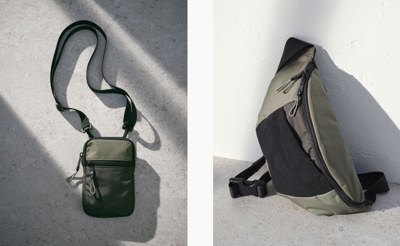 For the man who doesn't have much to carry around, H&M has a small shoulder bag.
