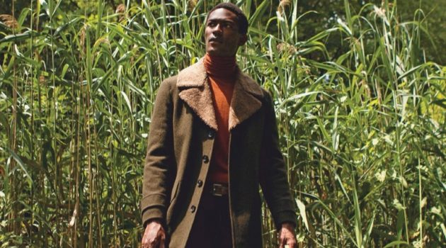 Hamid Onifade Tackles Rugged Fall Style for Men's Journal