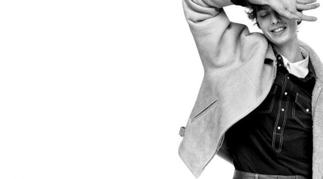 Alasdair McLellan photographs Leon Dame for Isabel Marant's fall-winter 2021 men's campaign.