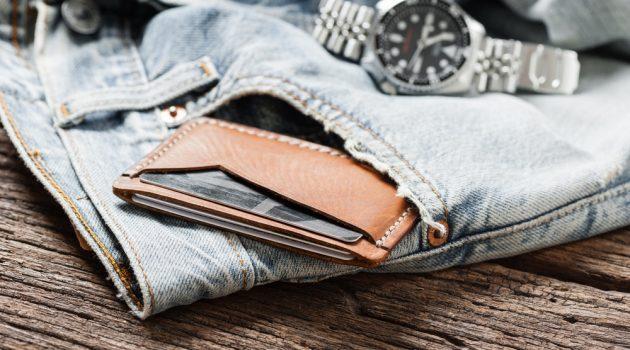 Jeans Watch Slim Wallet