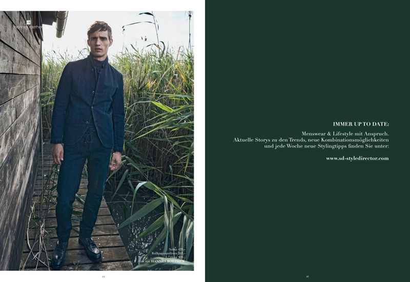 Julian Schneyder Dons Smart Fall Style for Masculin Journal