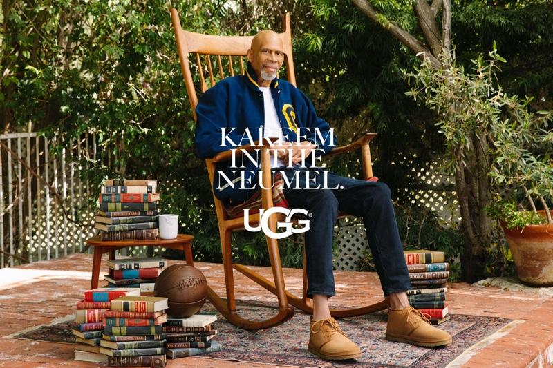 Kareem Abdul-Jabbar dons UGG's Neumel chukka for the brand's fall-winter 2021 campaign.