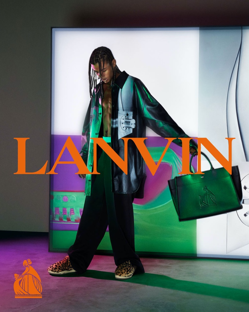 Mert & Marcus photographs Luv Resval for Lanvin's fall-winter 2021 men's campaign.