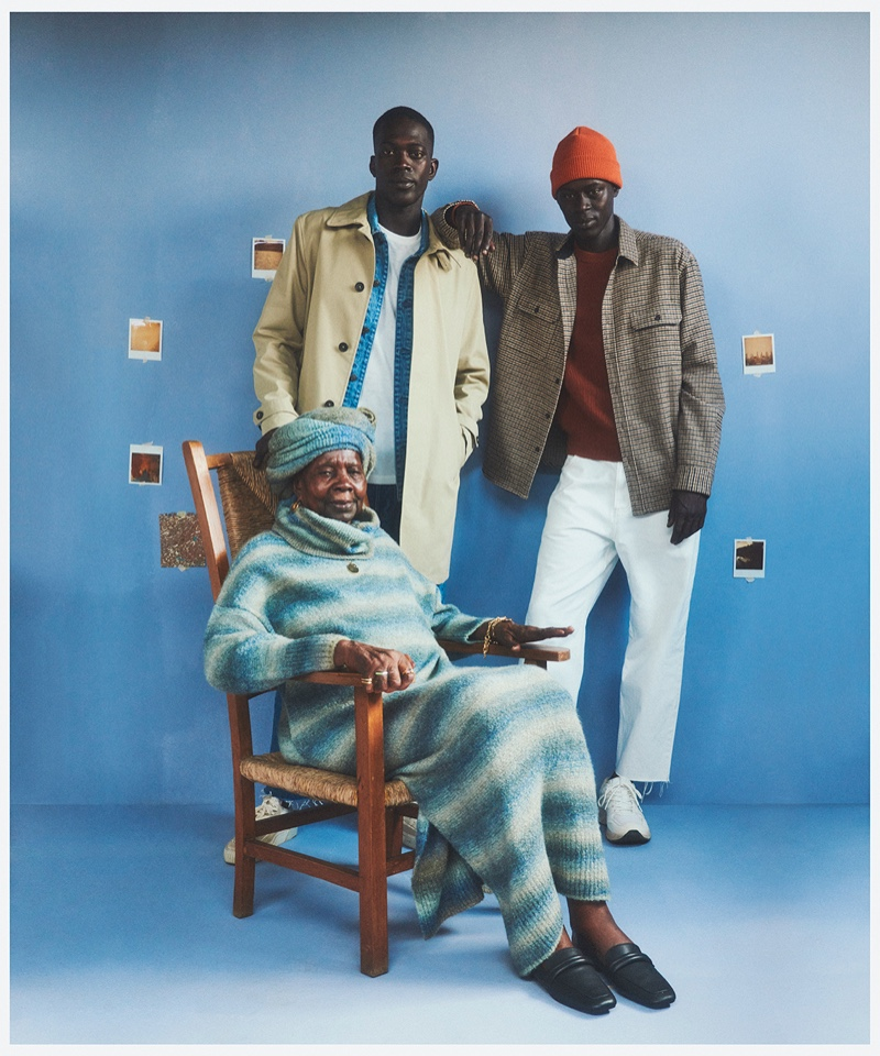 """Alpha Dia appears alongside his family for Mango's """"This is Family"""" campaign."""