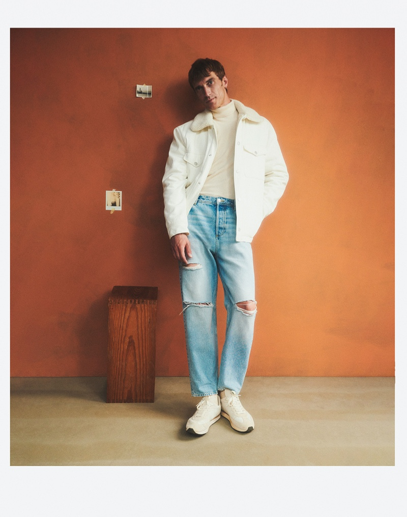 In front and center, Clément Chabernaud is a chic vision for Mango's newest campaign.