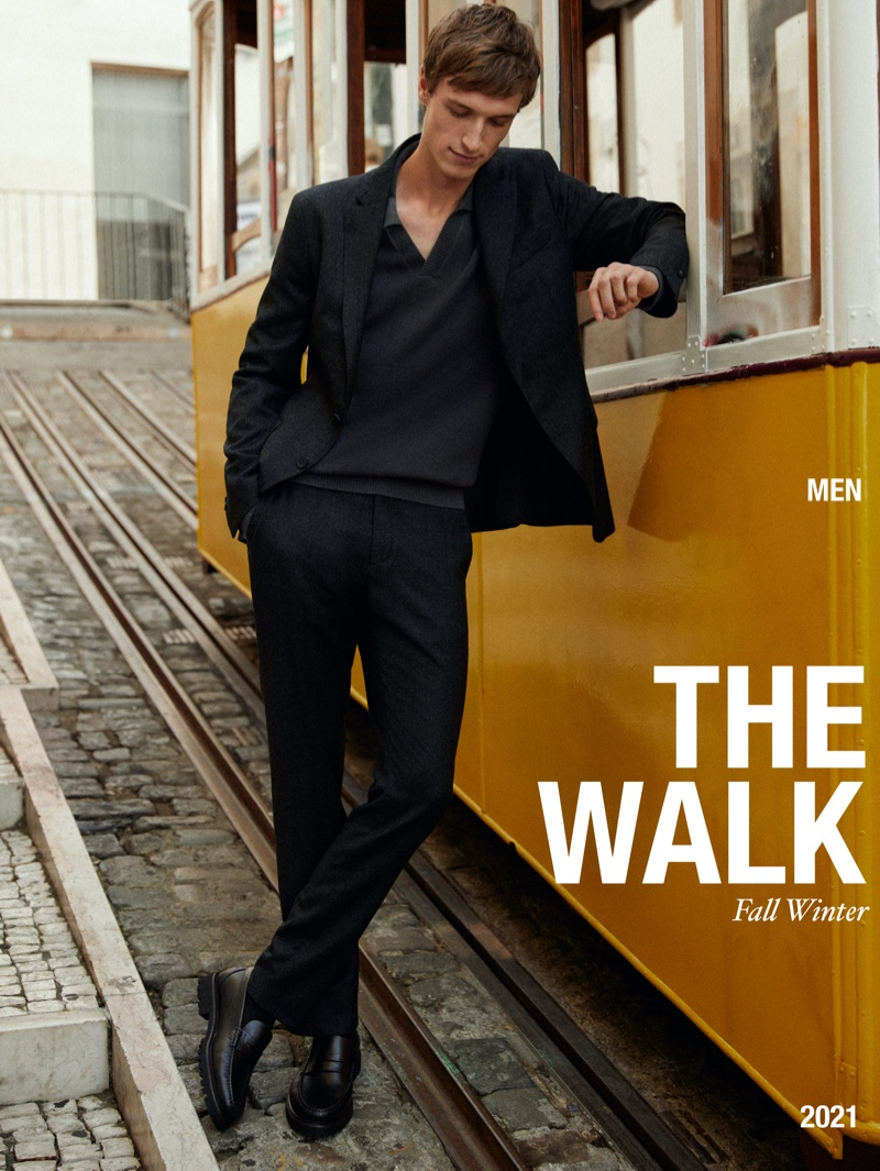 """Egon Van Praet stars in a new editorial for Massimo Dutti called """"The Walk."""""""