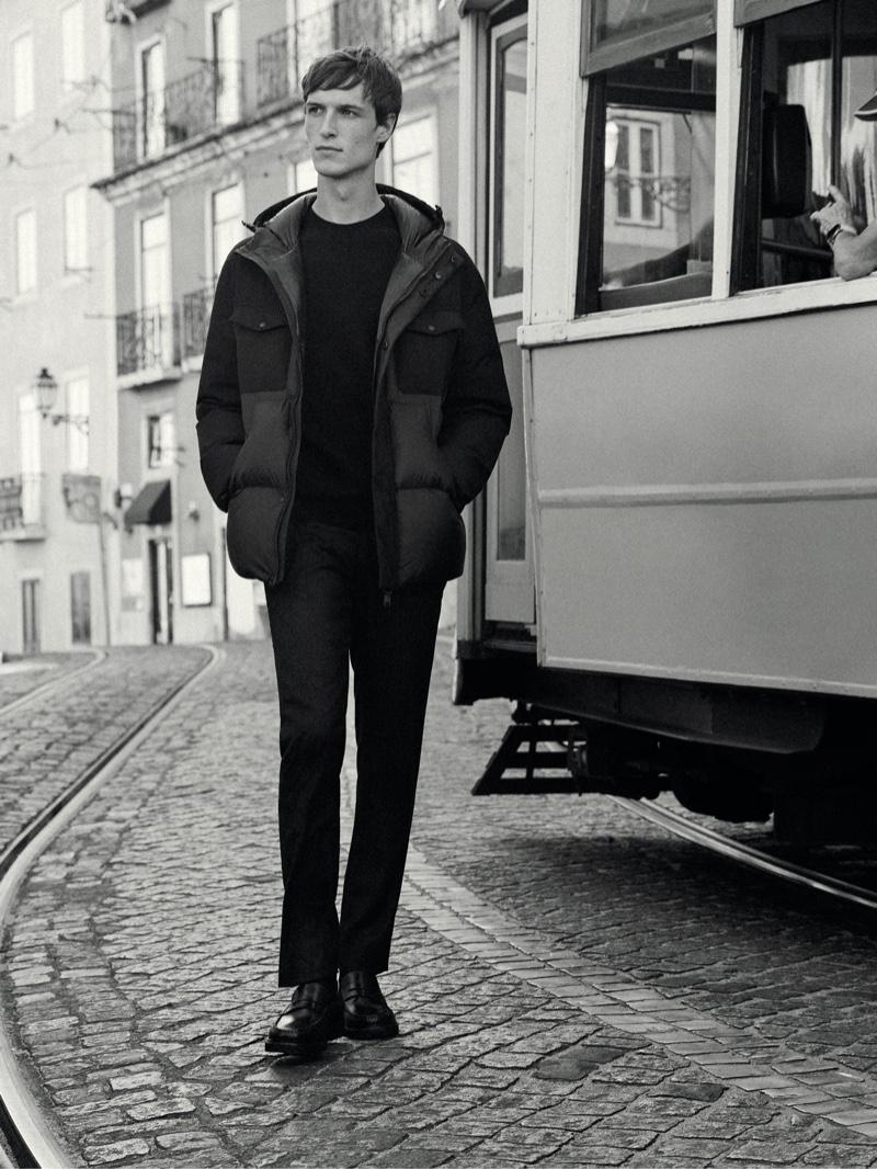Egon Van Praet Takes a Stylish Walk with Massimo Dutti