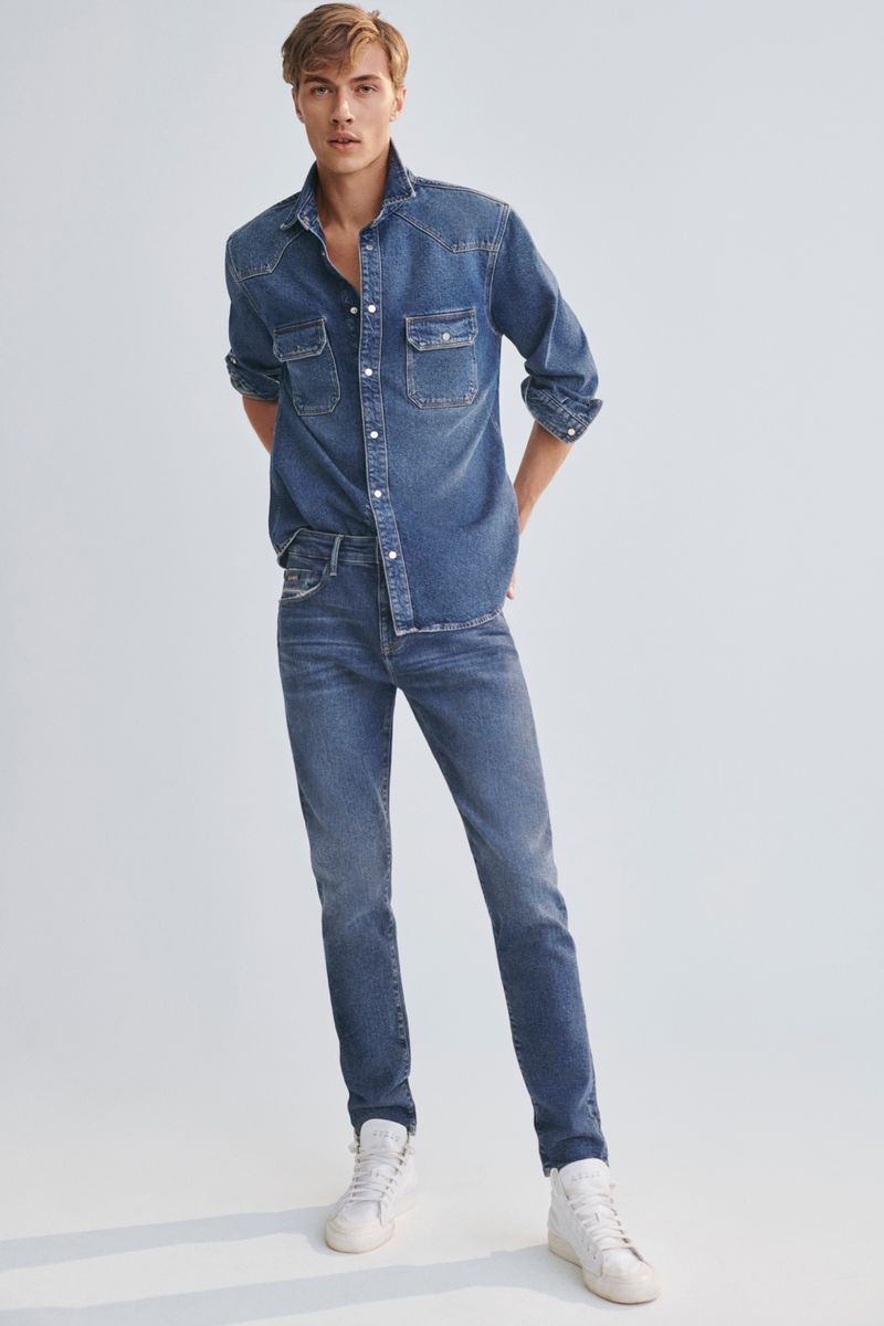 Doubling down on denim, Lucky Blue Smith fronts Mavi's fall-winter 2021 campaign.
