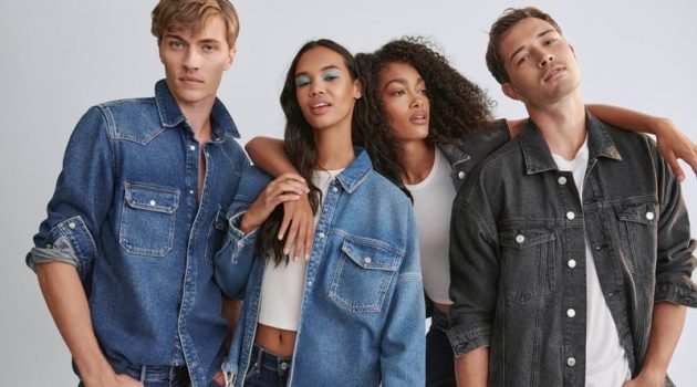 Models Lucky Blue Smith, Jordan Daniels, Marlee Bell, and Francisco Lachowski star in Mavi's fall-winter 2021 campaign.