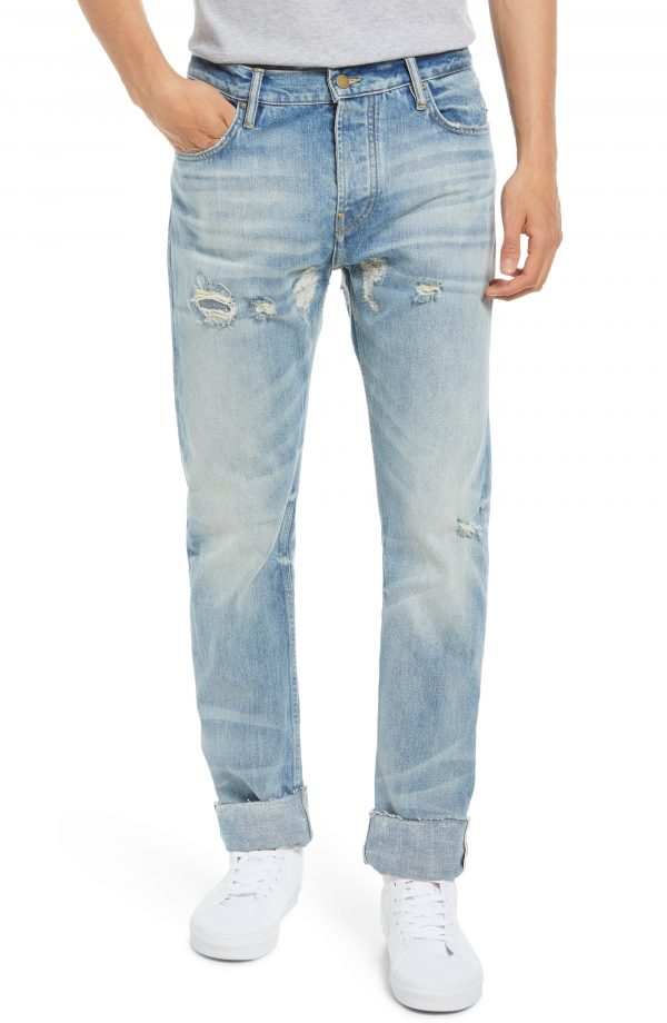 Men's Fear Of God 7Th Collection Distressed Jeans, Size 30 - Blue