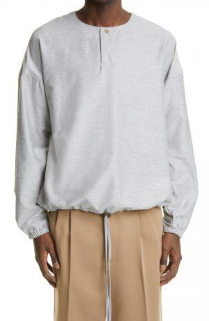 Men's Fear Of God Batting Practice Cotton Jacket, Size Medium - Grey (Nordstrom Exclusive)