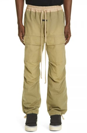 Men's Fear Of God Drawstring Cargo Pants, Size Large - Green