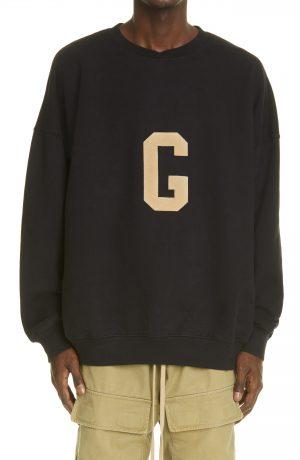 Men's Fear Of God Grays Cotton Sweatshirt, Size X-Large - Black