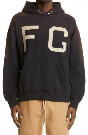 Men's Fear Of God Monarch Logo Cotton Hoodie, Size Small - Black (Nordstrom Exclusive)