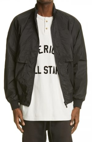 Men's Fear Of God Nylon Track Jacket, Size Small - Black