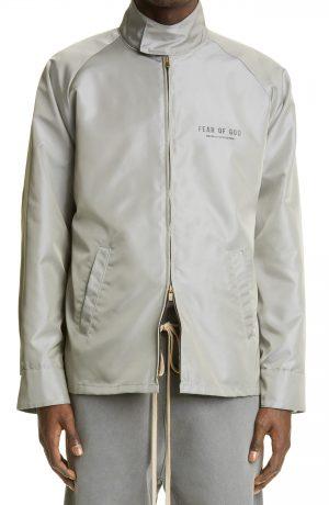 Men's Fear Of God Souvenir Logo Jacket, Size Small - Grey (Nordstrom Exclusive)
