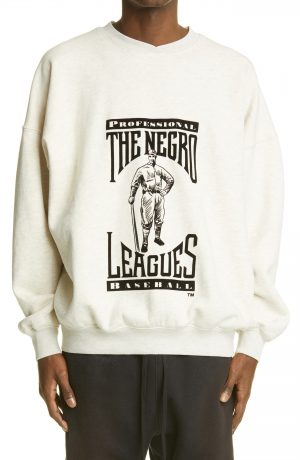 Men's Fear Of God The Negro Leagues Graphic Sweatshirt, Size Small - Ivory