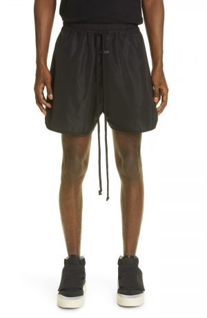 Men's Fear Of God Track Shorts, Size Small - Black