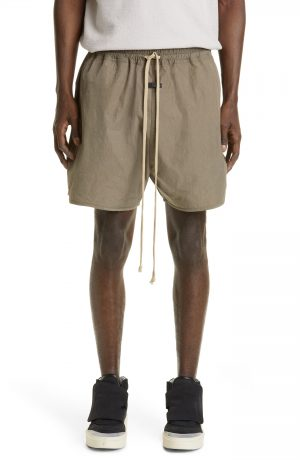 Men's Fear Of God Track Shorts, Size X-Small - Beige