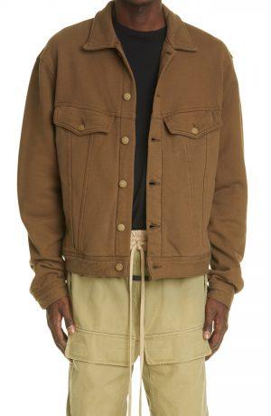 Men's Fear Of God Trucker Jacket, Size Small - Brown