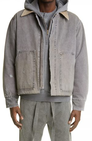 Men's Fear Of God Work Jacket, Size Small - Grey (Nordstrom Exclusive)