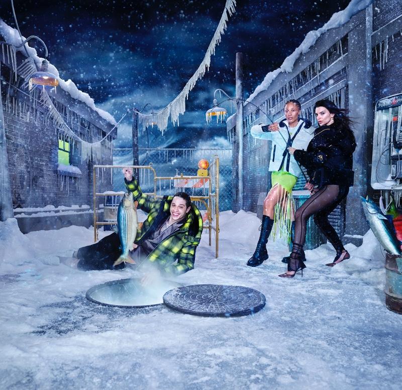 David LaChapelle  photographs Pete Davidson, Adwoa Aboah, and Emily Ratajkowski for Moose Knuckles' fall-winter 2021 campaign.