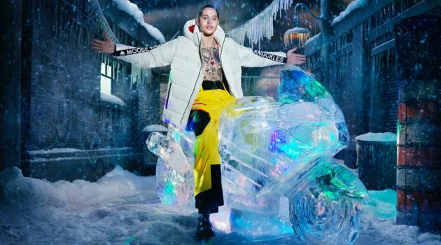 Pete Davidson stars in Moose Knuckles' fall-winter 2021 campaign.