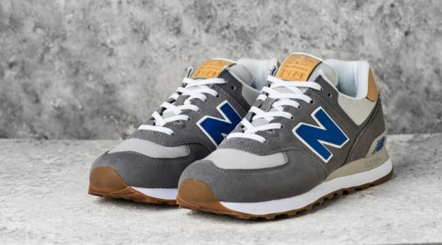 New Balance Grey Blue 574 Sneakers