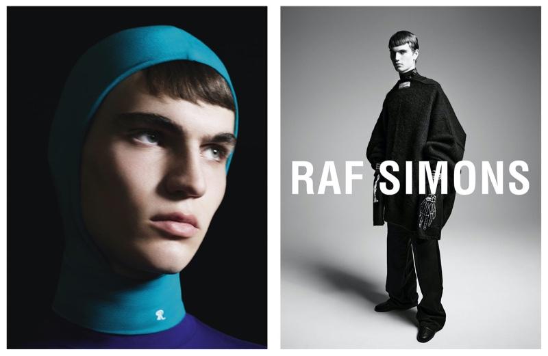 Lars Jammaers stars in Raf Simons' fall-winter 2021 campaign.